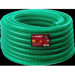Шланг напорно-всасывающий со спиралью ПВХ, 3 атм, 19мм х 15м ЗУБР / 40325-19-15